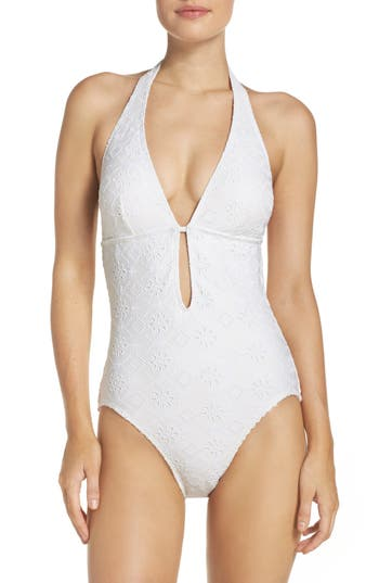 Kate Spade New York Half Moon Bay One-Piece Swimsuit