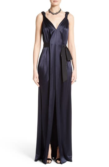 St. John Evening Liquid Satin Gown