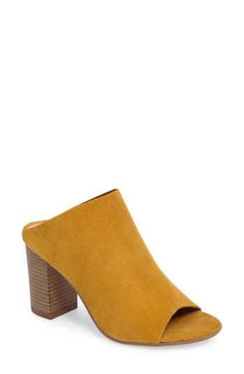 Women's Bos. & Co. Isabella Block Heel Mule, Size 8-8.5US / 39EU - Yellow