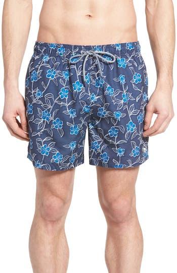 Men's Ted Baker London Winda Floral Print Swim Trunks