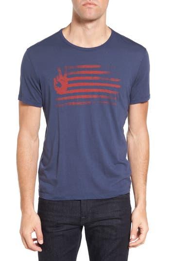 John Varvatos Star Usa Peace Flag Graphic T-Shirt, Blue
