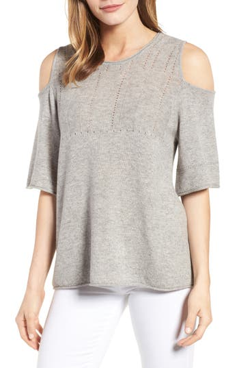 Velvet By Graham & Spencer Wool Blend Cold Shoulder Sweater