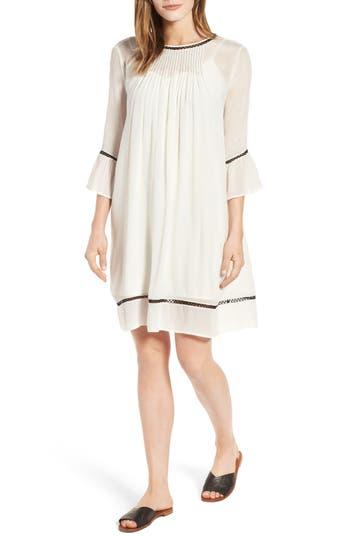 Velvet By Graham & Spencer Pintuck Pleat Lantern Sleeve Babydoll Dress