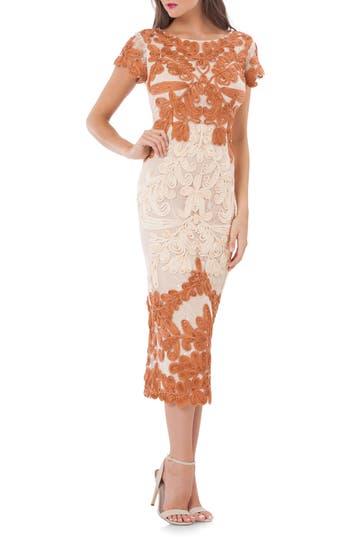 Women's Js Collections Soutache Lace Midi Dress