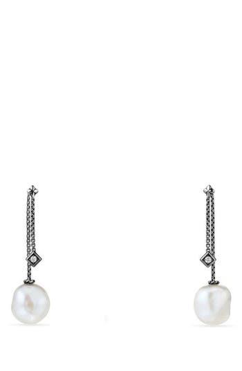 Women's David Yurman Solari Pearl & Diamond Drop Earrings