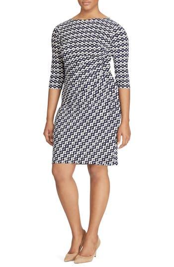 Plus Size Lauren Ralph Lauren Geo Print Sheath Dress
