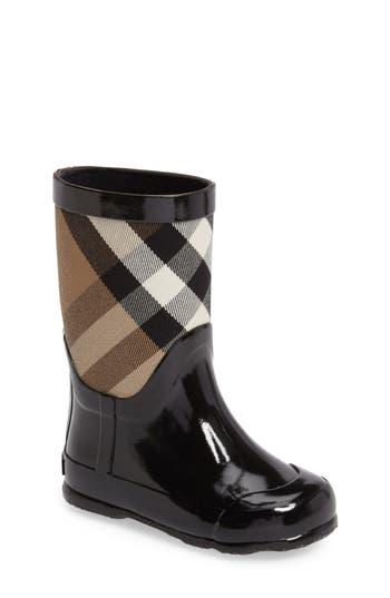 Boys Burberry Ranmoor Waterproof Rain Boot