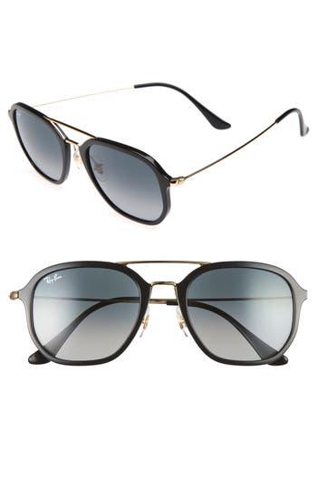 Ray-Ban 52Mm Square Sunglasses - Black/ Gold