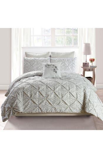 Vera Adith 6-Piece King Comforter Set, Size King - Grey