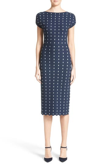 Lela Rose Dot Knit Sheath Dress