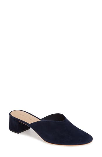 Women's Loeffler Randall Lulu Block Heel Mule, Size 5 M - Blue
