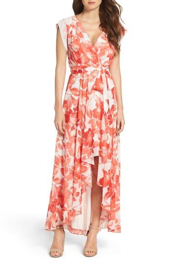 Women's Eliza J Surplice Obi High/low Dress