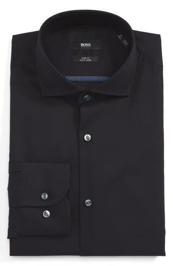 Men's Big & Tall Boss Slim Fit Easy Iron Solid Dress Shirt