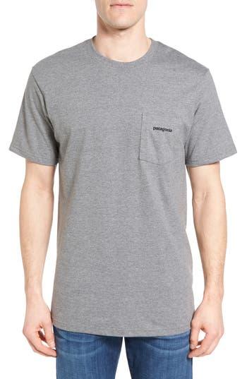 Patagonia P-6 Logo Graphic T-Shirt, Grey
