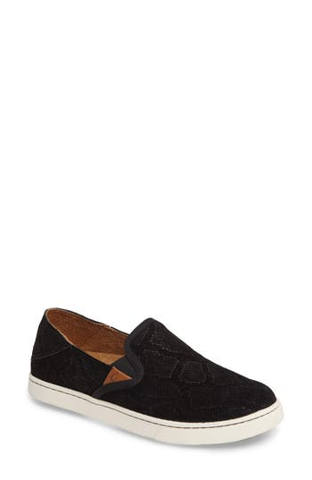 Olukai Pehuea Slip-On Sneaker, Black