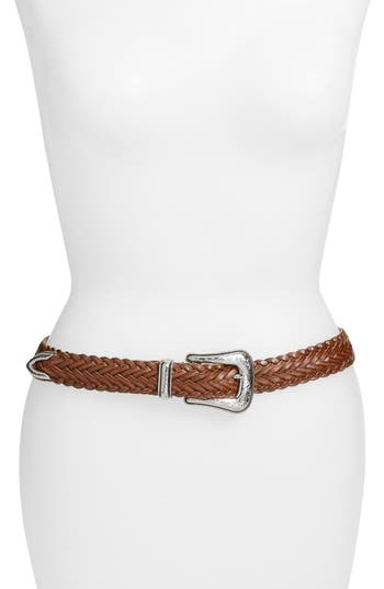 Rebecca Minkoff Braided Leather Belt, Luggage