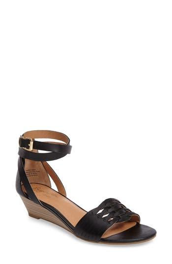 Seychelles Sincere Wraparound Wedge Sandal- Black