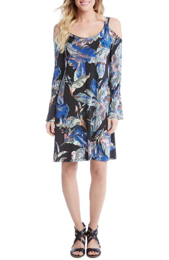 Karen Kane Cold Shoulder Bell Sleeve Shift Dress