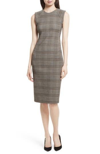 Theory Hadfield B Power Sheath Dress, Brown
