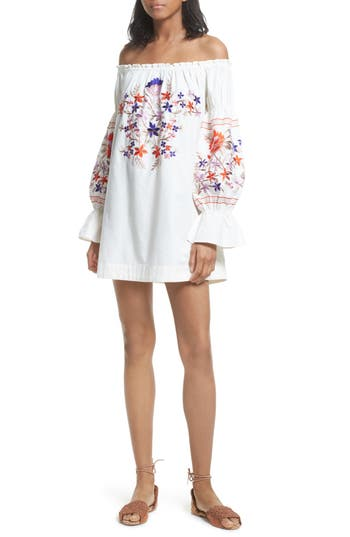 Free People Fleur Du Jour Shift Dress, Ivory