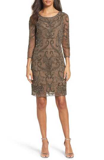 Pisarro Nights Embellished Sheath Dress
