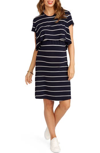 Rosie Pope Anita Popover Maternity Dress, Blue