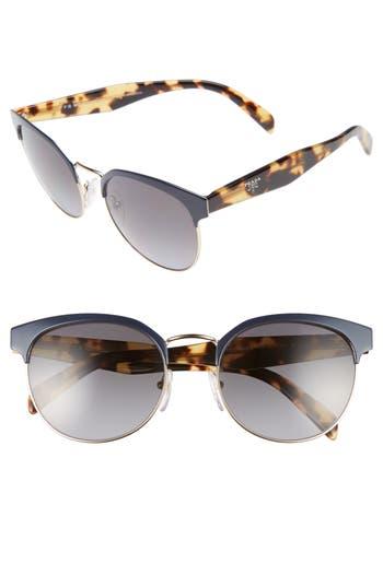 Women's Prada 55Mm Semi Rimless Sunglasses - Blue