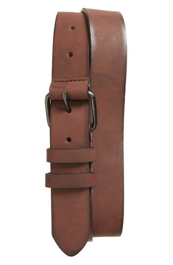 Topman Faux Leather Belt, Light Brown