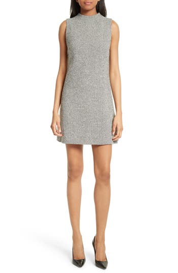 Alice + Olivia Coley Mock Neck Dress, Grey