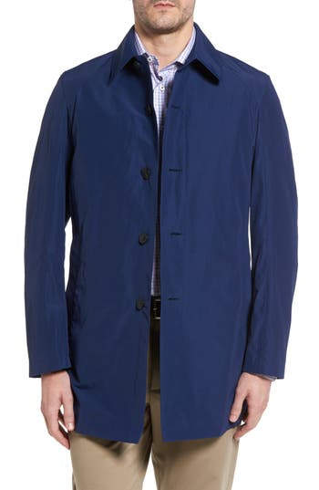 Men's Sanyo Austin Cotton Blend Raincoat, Size Small - Blue