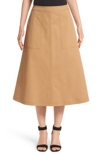 Women's Lafayette 148 New York Rosella Stretch Cotton Midi Skirt