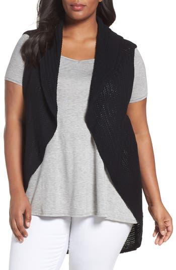 Plus Size Foxcroft Cotton Knit Circle Vest