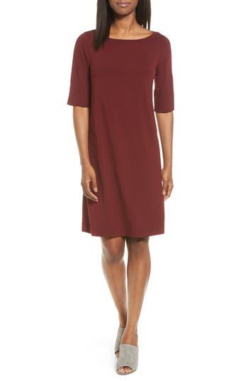 Eileen Fisher Jersey Shift Dress, Red