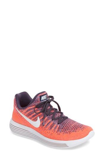 Women's Nike Lunarepic Low Flyknit 2 Running Shoe, Size 6 M - Purple