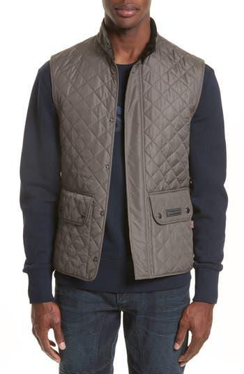 Belstaff Waistcoat Tech Quilted Vest, Grey