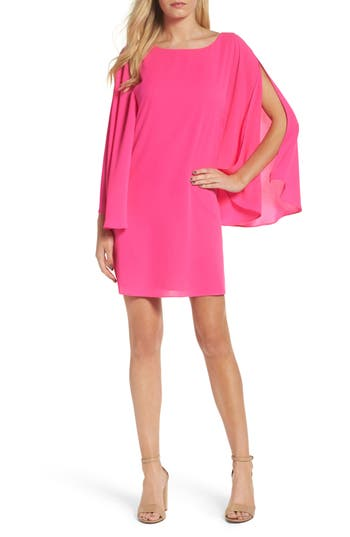 Chelsea28 Butterfly Sleeve Shift Dress, Pink