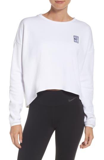 Nike Court Crop Tennis Top, White