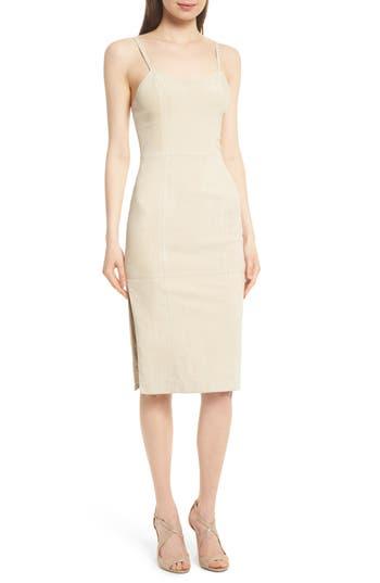 Alice + Olivia Rochell Suede Sheath Dress, White
