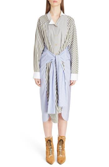 Women's Loewe Tie Waist Cotton Poplin Shirtdress