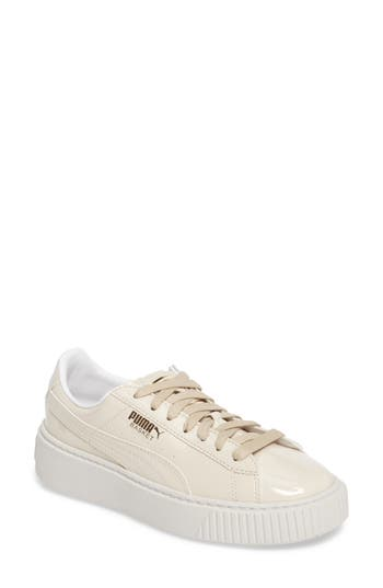 Puma Basket Platform Sneaker- Beige