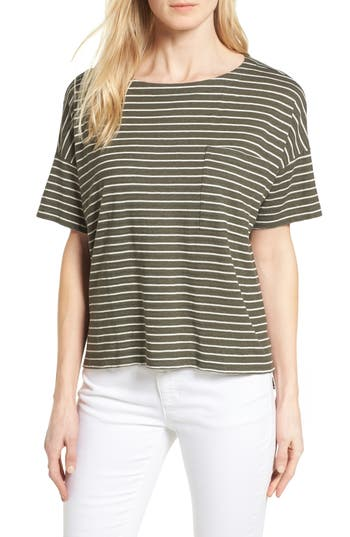Eileen Fisher Stripe Groove Sweater, Green