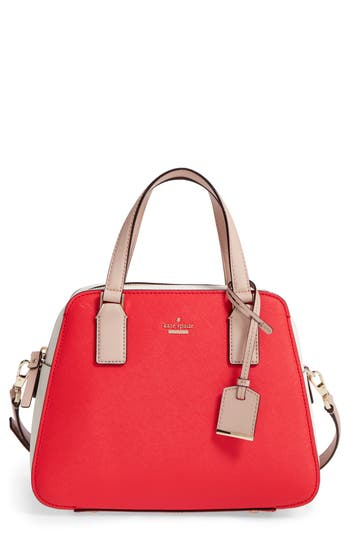 Kate Spade New York Cameron Street - Little Babe Leather Satchel - Red