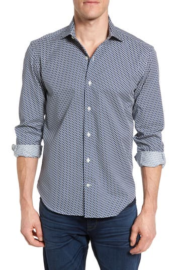 Men's Culturata Tailored Fit Tulip Print Sport Shirt