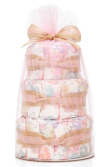 Infant The Honest Company Mini Diaper Cake & Travel-Size Essentials Set, Size One Size - Pink