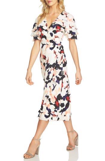 Women's 1.state Floral Wrap Midi Dress