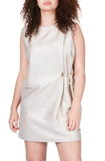 Plus Size Elvi Side Tie Minidress, W US / 14 UK - Metallic