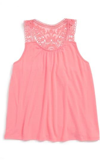 Girl's Tucker + Tate Crochet Tank, Size M (8-10) - Pink