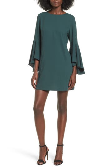 Leith Ruffle Sleeve Shift Dress, Green