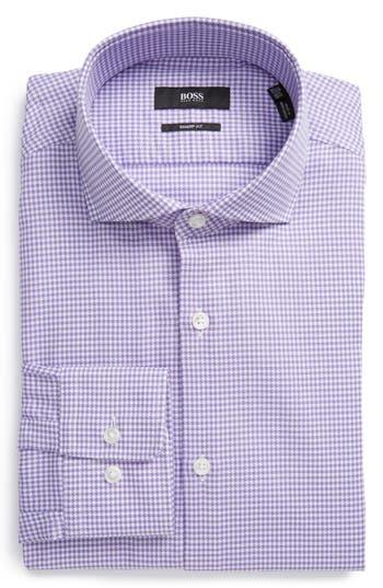 Men's Boss Sharp Fit Houndstooth Dress Shirt