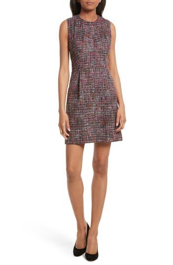 Women's Milly Coco A-Line Tweed Dress, Size 4 - Grey
